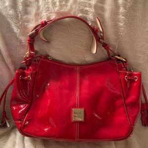 Dooney & Bourke red patent leather purse